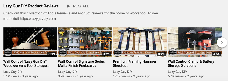 4 video images from Lazy Guy DIY site